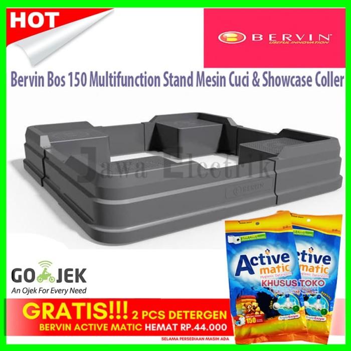 harga Bervin bos 150 multifunction stand mesin cuci & showcase coller Tokopedia.com