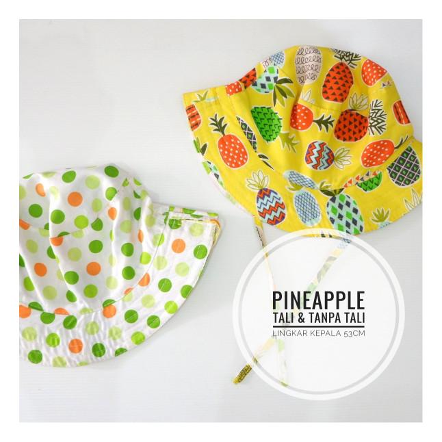 harga Topi bucket hat anak motif pineapple square Tokopedia.com