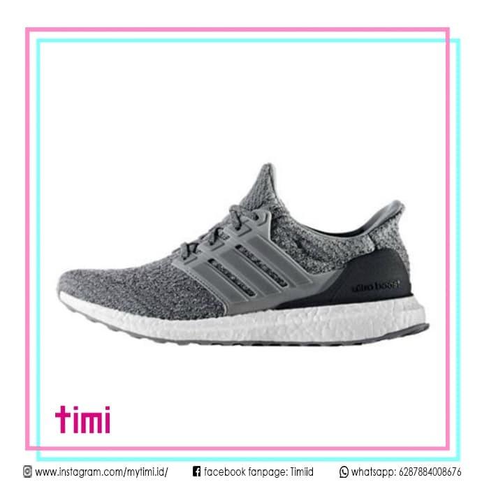Jual SepatuSneaker Adidas Ultra Boost 3.0 Grey Three CowokRunningCets DKI Jakarta timiiid | Tokopedia