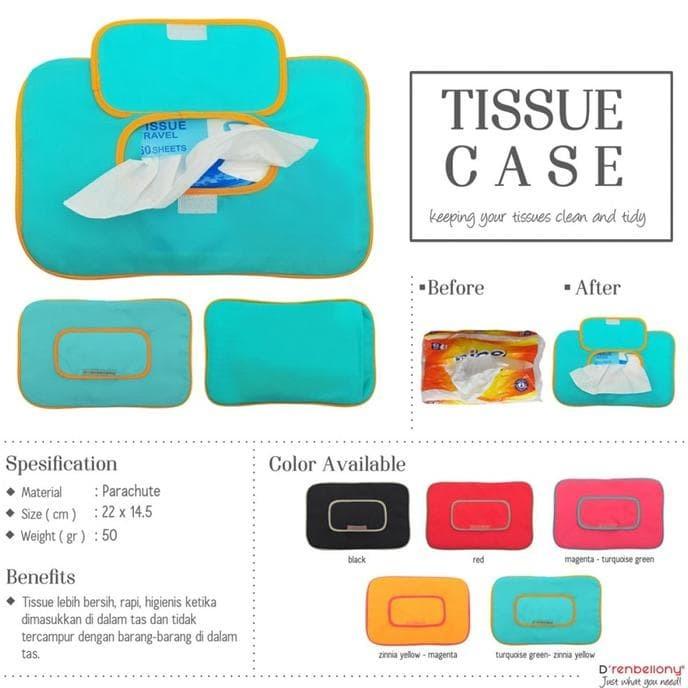 harga Jual tissue case d'renbellony (travel pouch dompet tempat tisu) khaki Tokopedia.com
