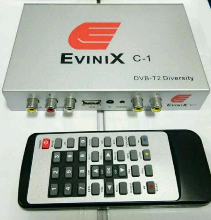 CAR SET TOP BOX TV DIGITAL DVBT2 EVINIX HD H265 TWIN TUNNER