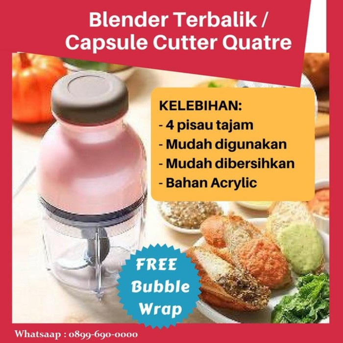Jual Hand Blender Capsule Cutter Quatre / Blender Press ...
