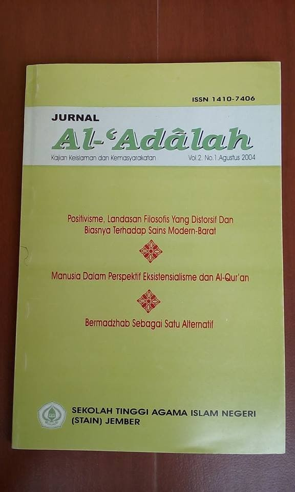 Jual Jurnal Al Adalah Vol 2 No 1 Ags 2004 Kota Depok Delani Bookstore Tokopedia