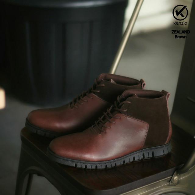 Free Bonus !!! Sepatu Boots Murah REYL Zealand Original (Kulit Asli) -  Cokelat 89c5287902