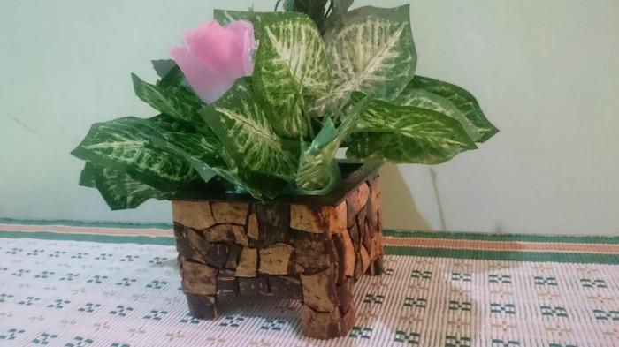 Jual Vas Bunga Unik Batok Kelapa Kota Palu Bukit Bunga Palu Tokopedia