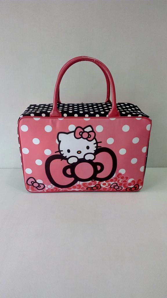 Travel bag super kanvas besar Hello Kitty Pita, Travelbag .
