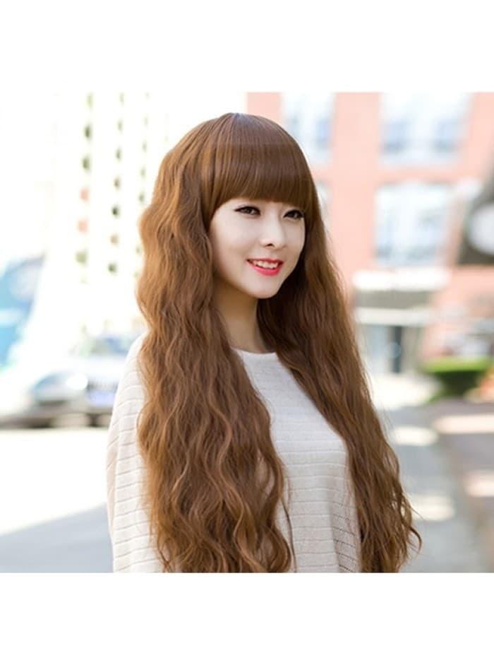 Dijual Wig Panjang Murah Rambut Palsu + Poni Coklat Light Brown FZ33 ... 0828fe6057