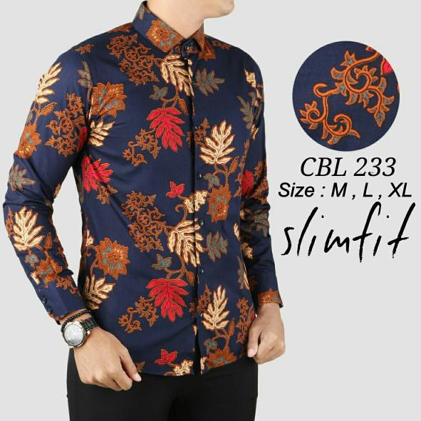 Hitam Spec dan Source · Kemeja Batik Navy kemeja batik pria gradation navy .