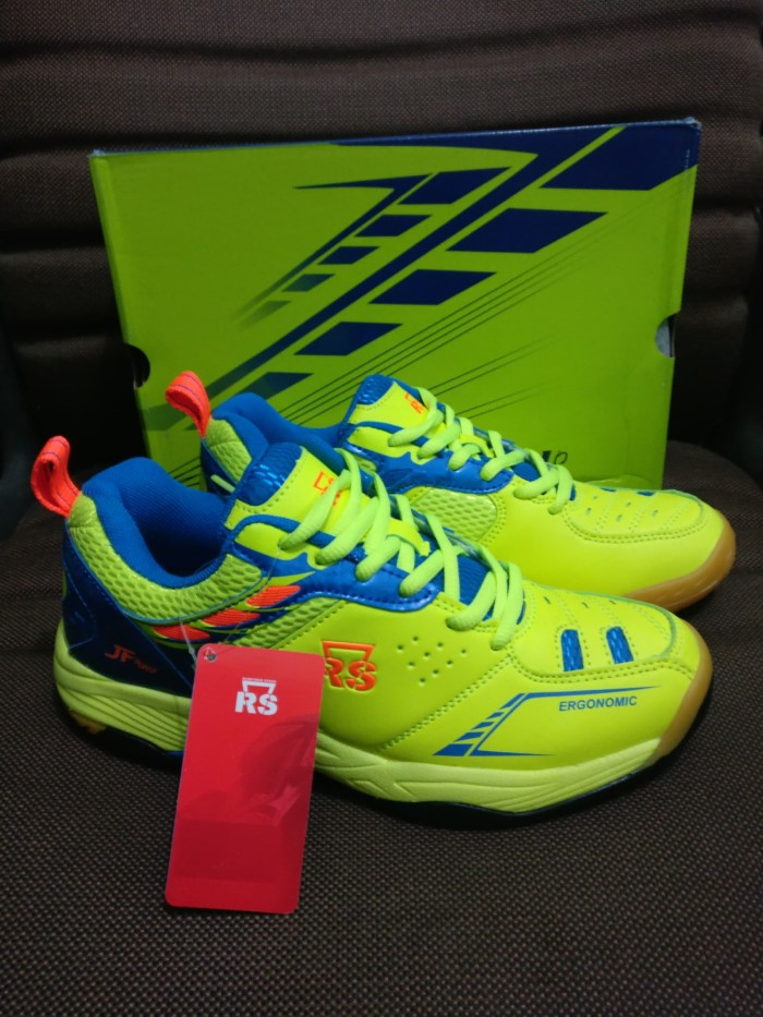harga Sepatu badminton rs rainforce speed jf jeffer 798 lemon biru original Tokopedia.com