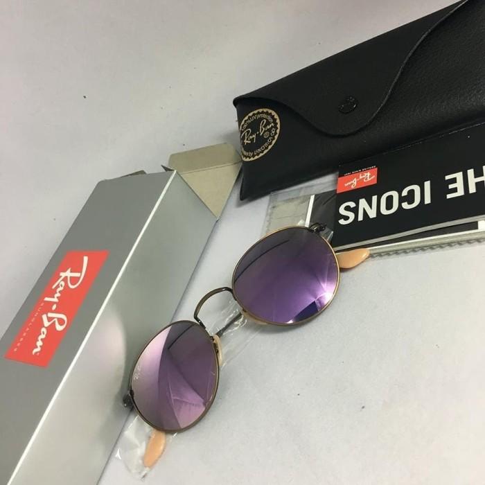 harga Kacamata ray ban original - rayban round rb3447 167/4k lilac Tokopedia.com