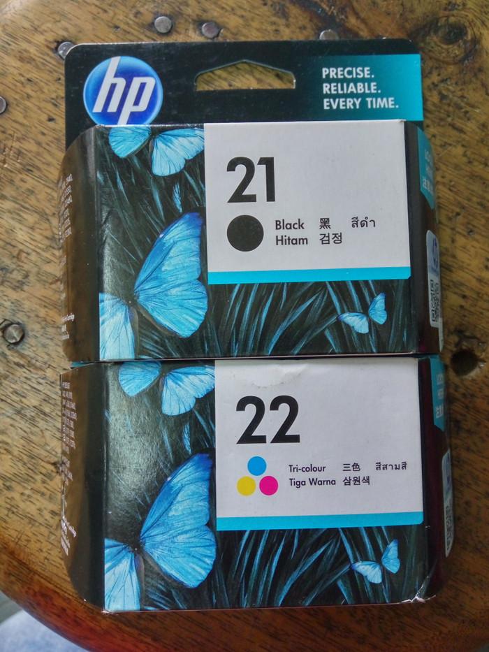 ... harga Tinta hp cartridge 21/22 paketan original Tokopedia.com