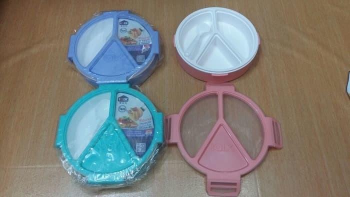 Iqix yooyee kotak makan grid bento lunch box 3 sekat anti bocor