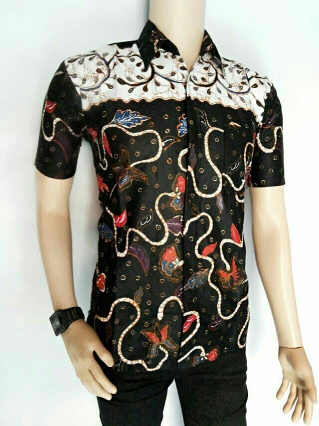 harga Kemeja batik pria | batik hitam modern Tokopedia.com