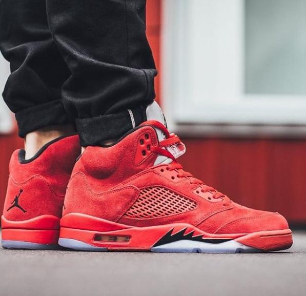 20bb4852d9b Jual Sepatu Sneakers NIke Jordan 5 Retro Red Suede For Man - Kota ...