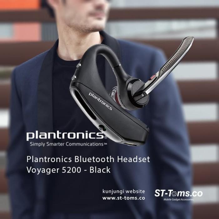 Jual Plantronics Bluetooth Headset Voyager 5200 – Black Harga Promo Terbaru