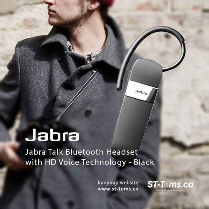 harga Jabra talk bluetooth headset with hd voice technology - black Tokopedia.com