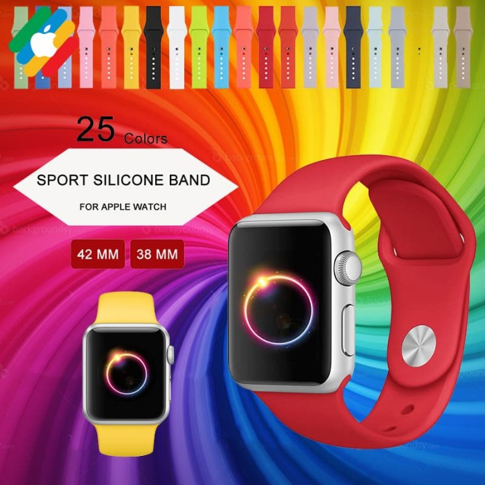 harga 38 / 42 mm apple watch colorful nike sport silicone strap tali iwatch Tokopedia.com