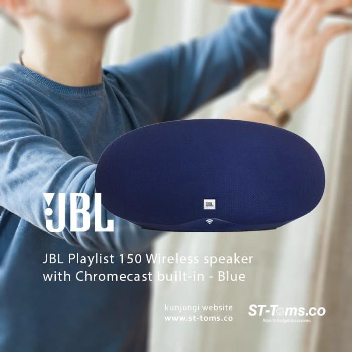 harga Jbl playlist 150 wireless speaker with chromecast built-in - blue Tokopedia.com