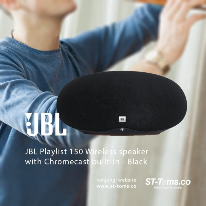 harga Jbl playlist 150 wireless speaker with chromecast built-in - black Tokopedia.com