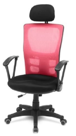 the olive house - kursi kantor isa mesh  - merah