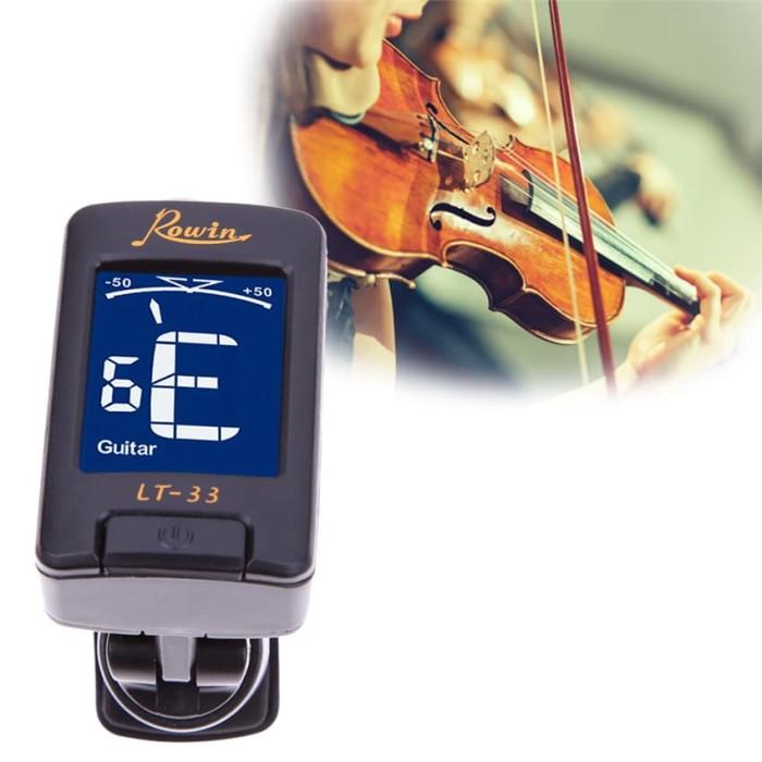 harga Tuning guitar violin neck rowin tuner gitar bass biola clip on lt 33 Tokopedia.com