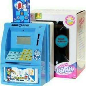 harga Celengan atm mini doraemon mesin hitung saldo uang kertas dan koin Tokopedia.com