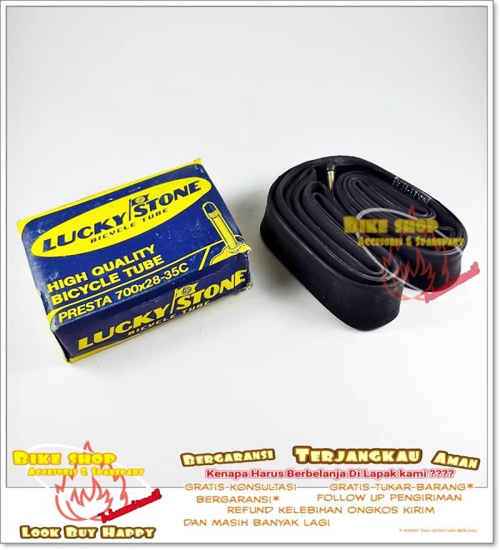 harga Ban dalam sepeda balap fixie lucky stone 700 x 28c/35c fv 50mm Tokopedia.com