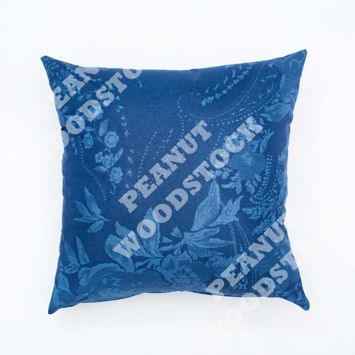 Sarung Bantal Sofa/Kursi Bunga Biru