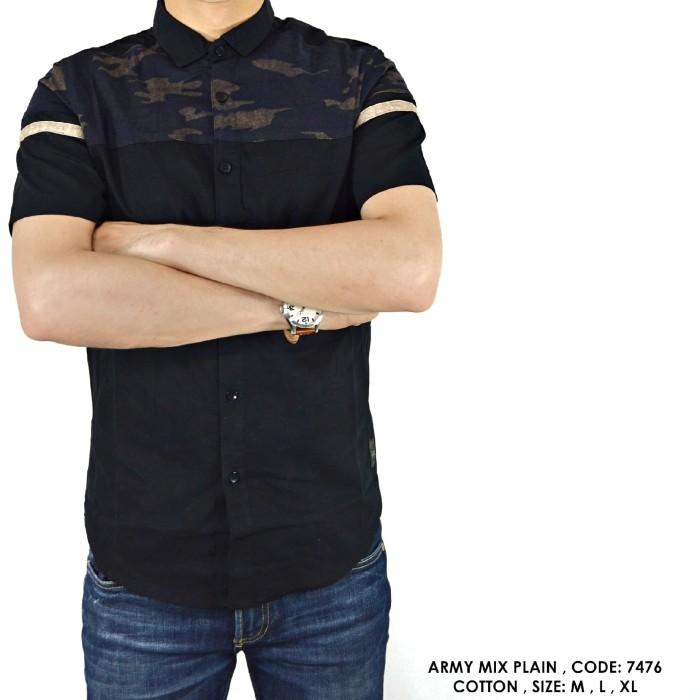 harga Baju kemeja cowok kerja kantor motif loreng tentara tni army hijau Tokopedia.com