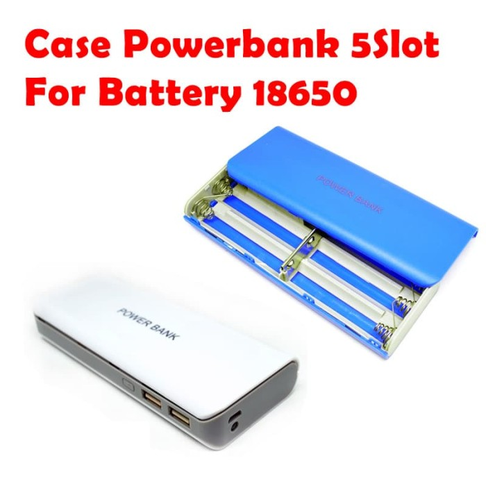 Case Casing Power Bank 18650 untuk 5Pcs Battery 18650