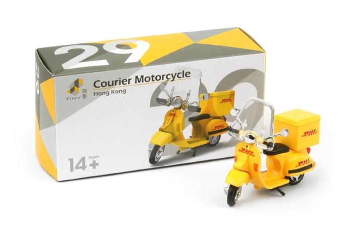 Tiny diecast 29 dhl courier motocycle