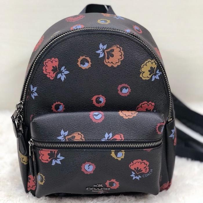Jual Tas Ransel Coach Original   Coach Mini Charlie Backpack Floral ... f240b67971