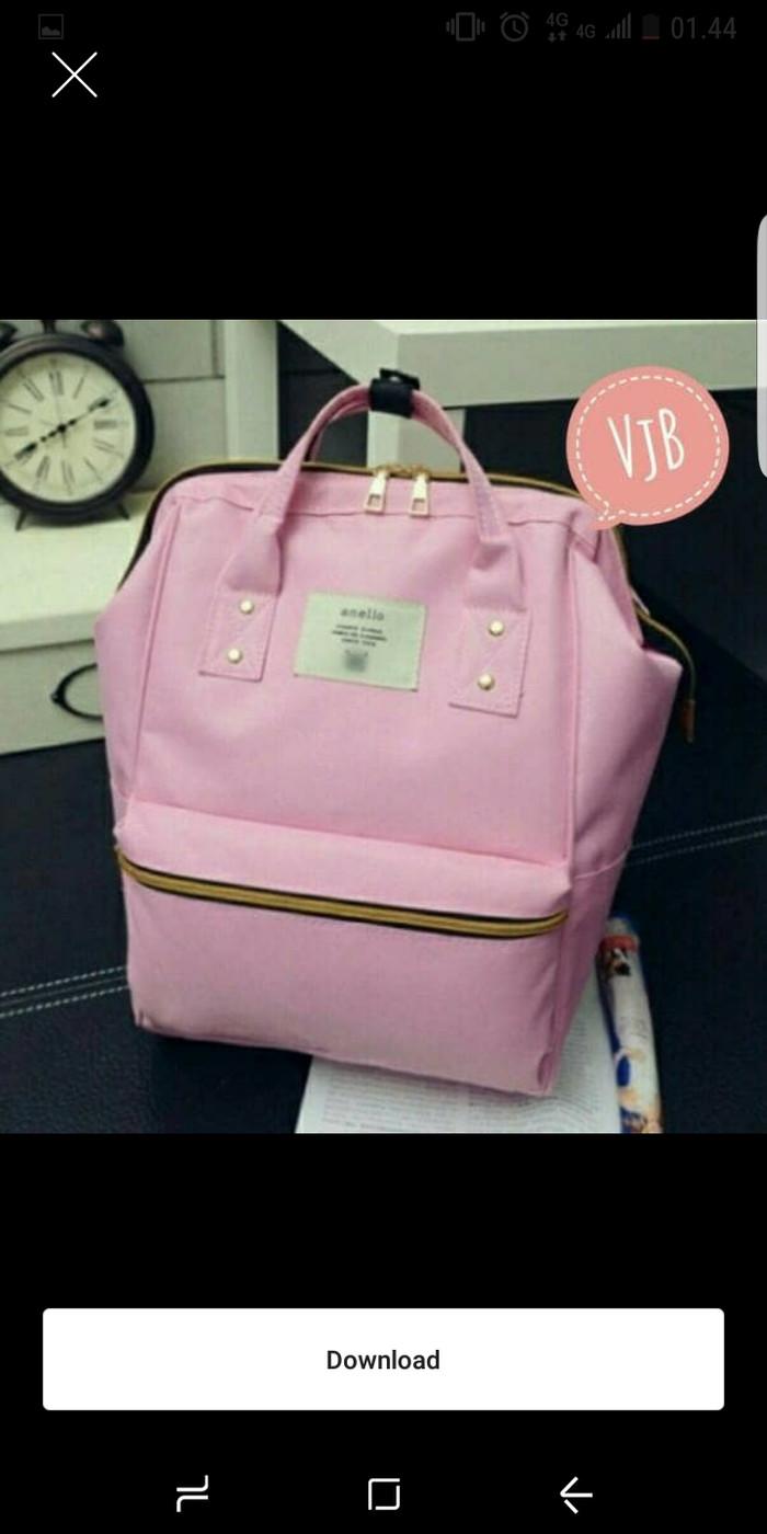 Jual Tas Ransel Backpack Fashion Bahan Canvas Lima Warna Tas Wanita Titanium Kab Lingga BS OLShop4889