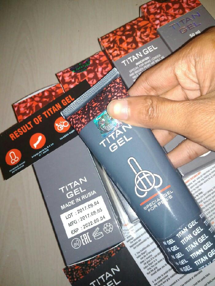 jual cream titan gel asli 100 original made in rusia barang