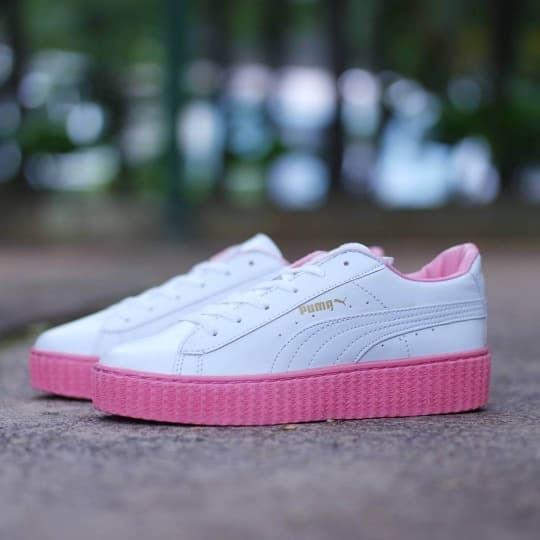 info for 4bf96 ec74a Jual Sepatu Puma Fenty Rihanna White Pink / Putih Cewek Wanita Casual -  Jakarta Barat - Polyphia | Tokopedia