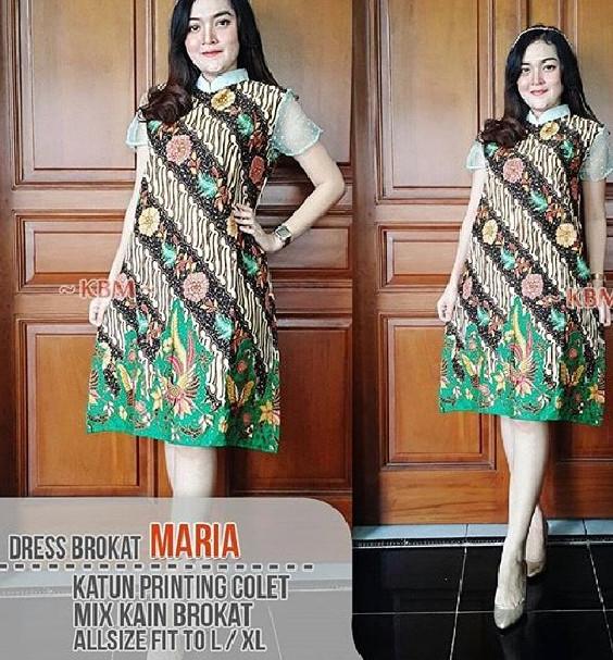 batik turtle high neck dress baju midi mini wanita pesta kondangan 802ce34d3e