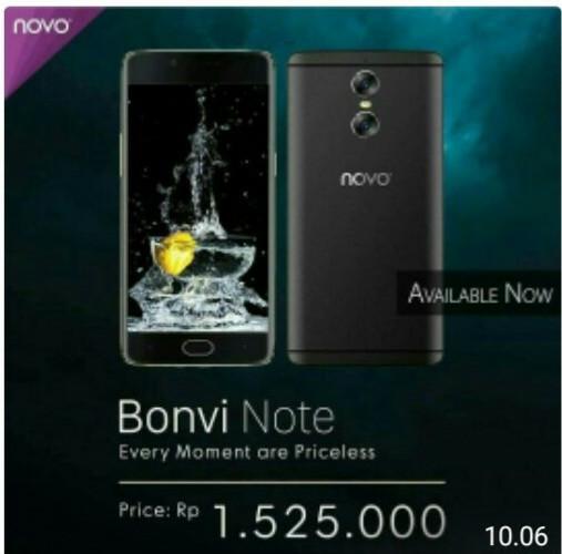 harga Novo smartphone bonvi note - 2/16 gb (garansi resmi lokal) Tokopedia.com