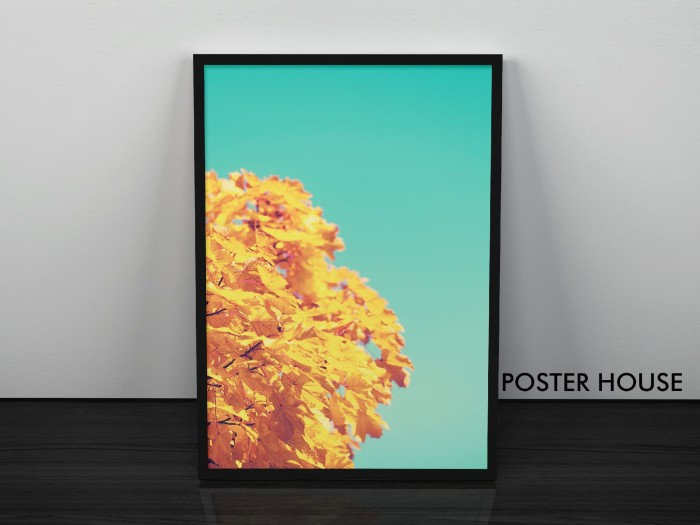 harga Poster  fallen  + premium frame / pigura kayu 30x45cm - frame 3d Tokopedia.com