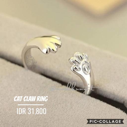 harga Cincin motif cakar kucing cat claw ring keren dan unik Tokopedia.com