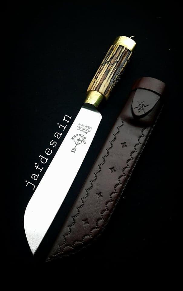 harga Herder pisau cap garpu asli 7  handle tanduk rusa&sarung kulit Tokopedia.com