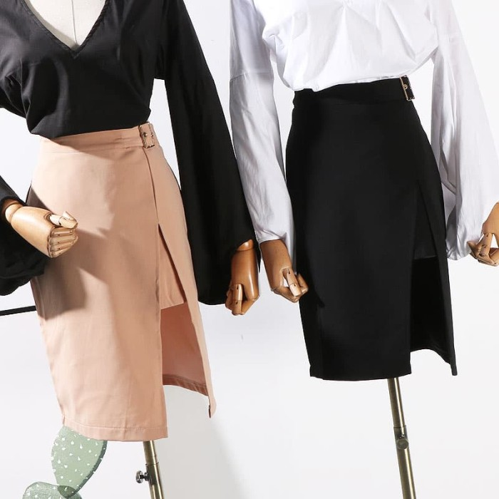217e0eee459a2b ... harga Rok celana skirt midi pants bawahan fashion wanita kulot bahan  dress Tokopedia.com