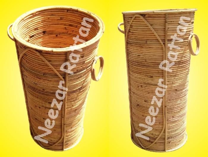 Foto Produk Tempat Wadah Payung Rotan Alami Vernis dari Berkah Jaya Rattan