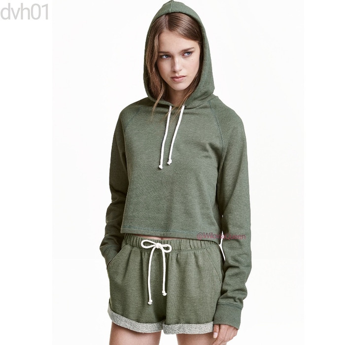 harga Jaket crop top pullover hoodies crop top wanita h&m divided katun 300g Tokopedia.com
