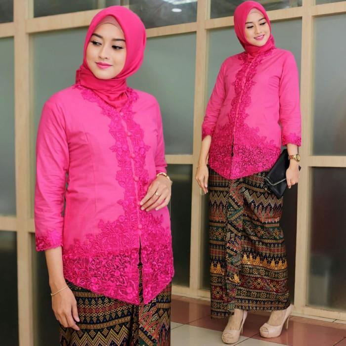 Jual Kebaya Encim Terlaris Model Baru Warna Pink Fanta Jakarta Pusat Afshee Shoop Tokopedia