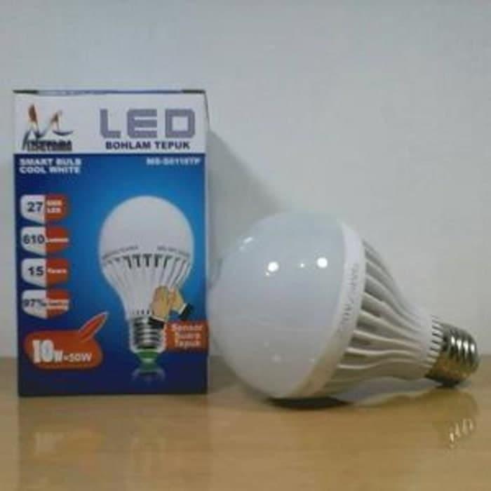 Lampu LED Sensor Tepuk 10 Watt Mitsuyama bohlam sensor tepuk LED 10W