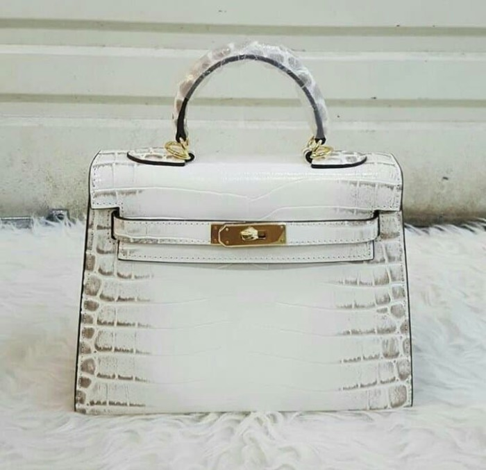 8dfb4e070a4 Jual TAS HERMES KELLY HIMALAYAN White 25CM MIRROR QUALITY ...