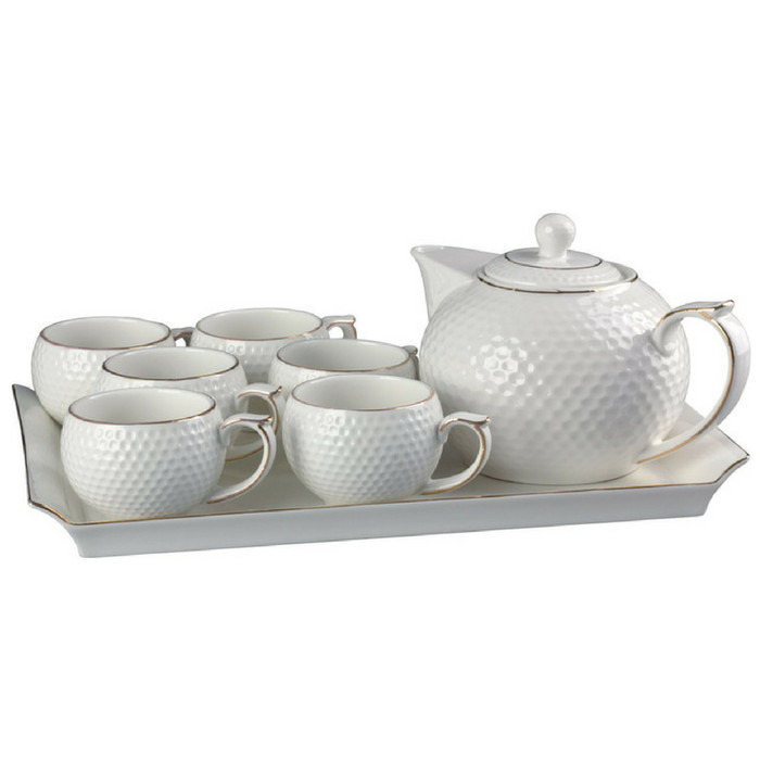 Tea set capodimonte 9 pcs