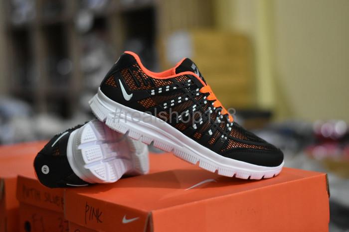 Jual Diskon Sepatu Sport Nike Airmax 3D Skin Hitam Orange Running ... 88c8458a5e