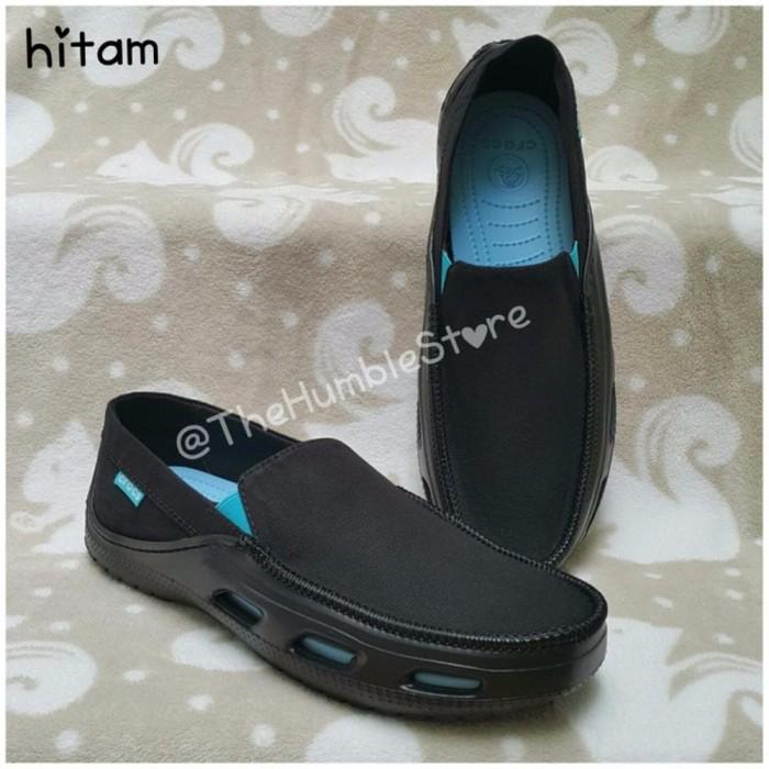 PREMIUM Sepatu Crocs Men Tideline Sport Canvas sepatu sandal pria wan