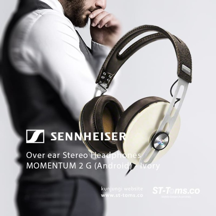 Jual Sennheiser Over Ear Stereo Headphones Momentum 2 G (Android) – Ivory Harga Promo Terbaru